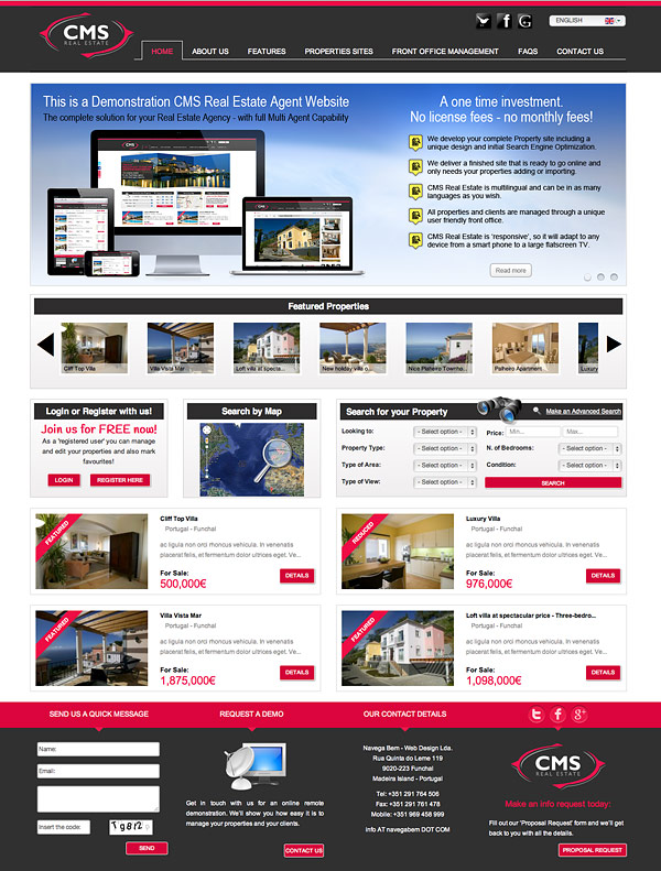 CMS Real Estate Agent Solution