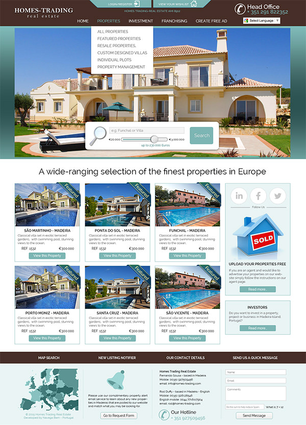 Home Trading Property Portal