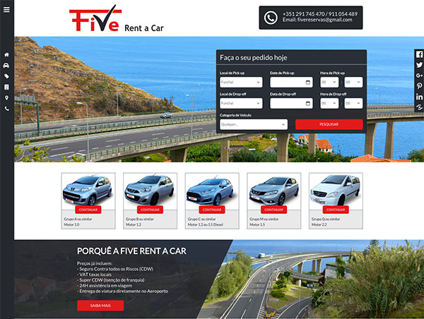 Five Rent A Car Launches New Website In Madeira Professional