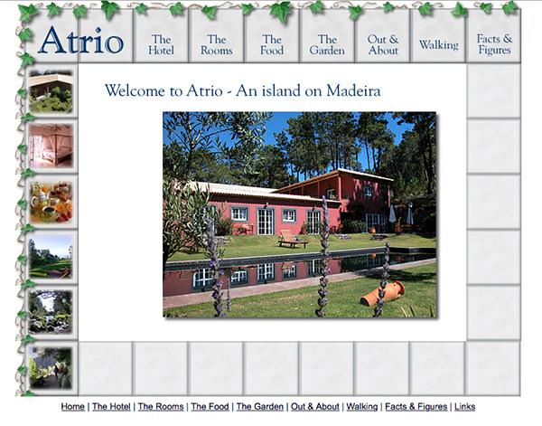 Old Atrio Madeira website